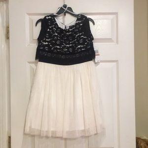 Black and cream dress.  Size 12